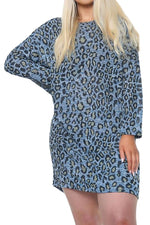 JULES Leopard Top - Blue
