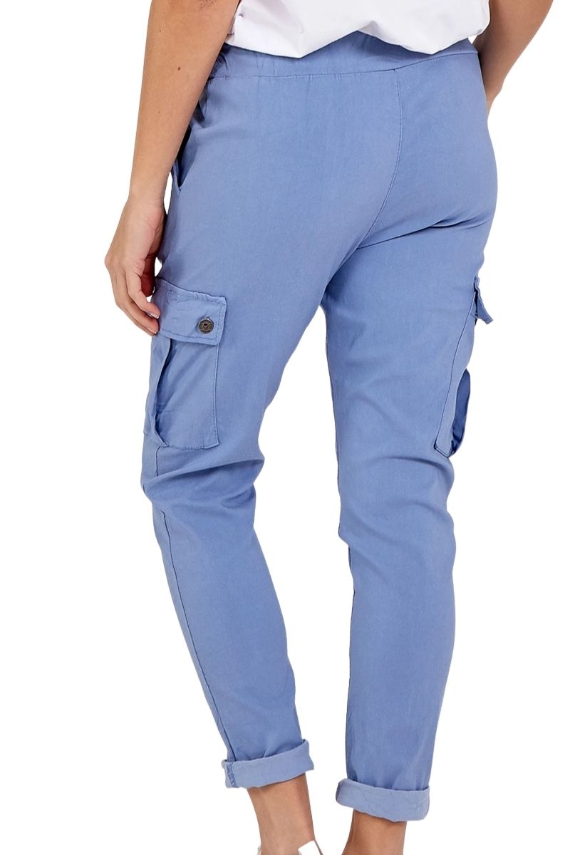 KIRSTY Cargo Magic Trousers - Blue