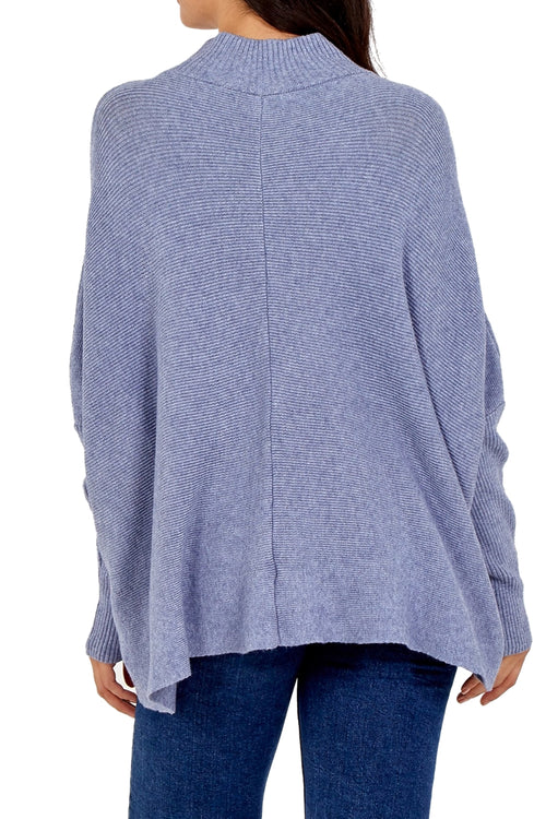 TRICIA Knitted Top -Blue