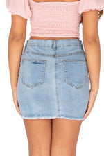 VIKKI Mini Skirt - Blue