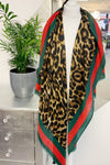 Brown Leopard Scarf - FW09
