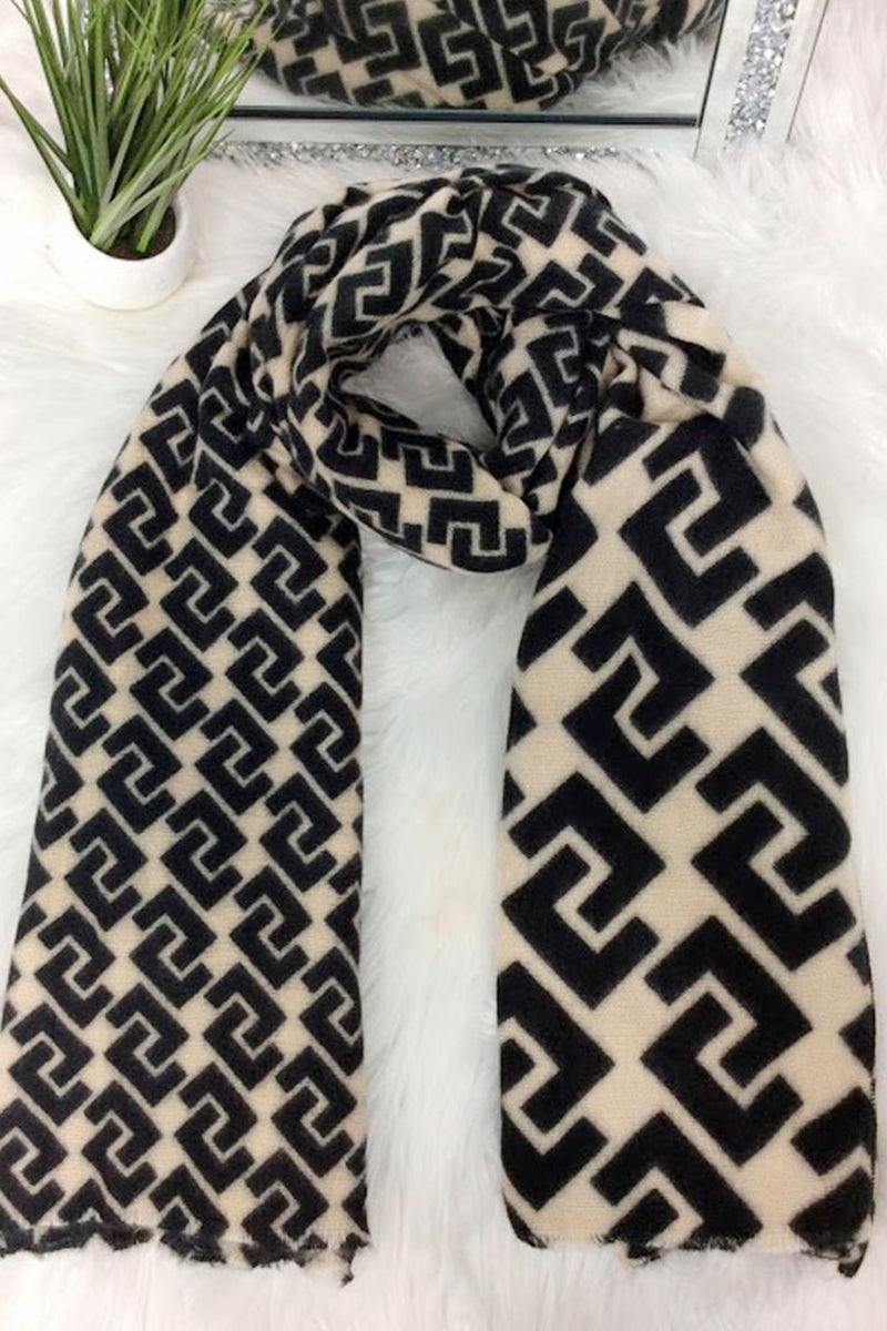 Cream Scarf - IW007