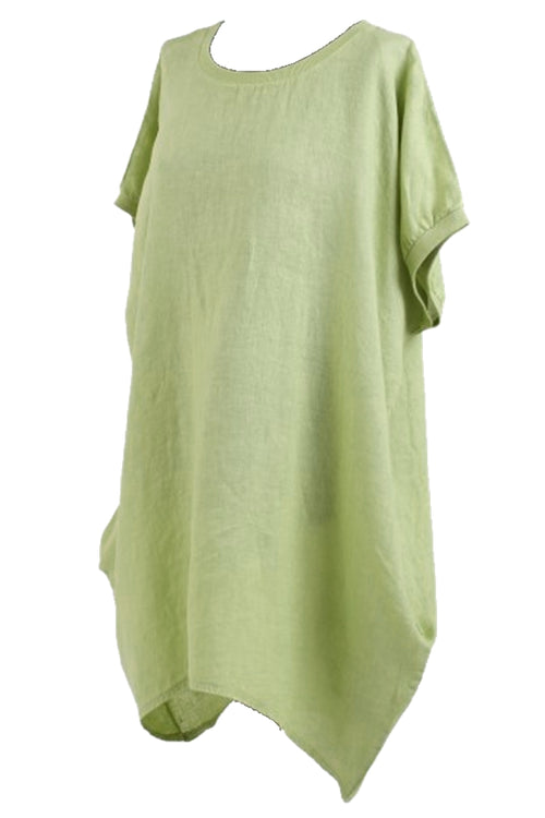 CARYS Linen Top - Green