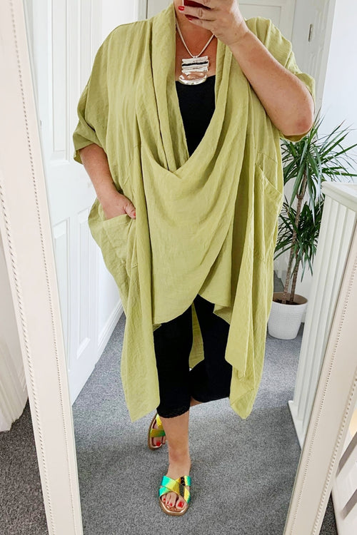 MIA Cowl Neck Top - Green