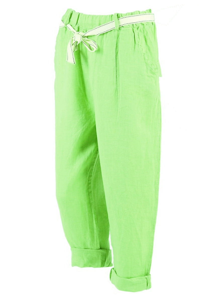 MYLA Linen Trousers - Green