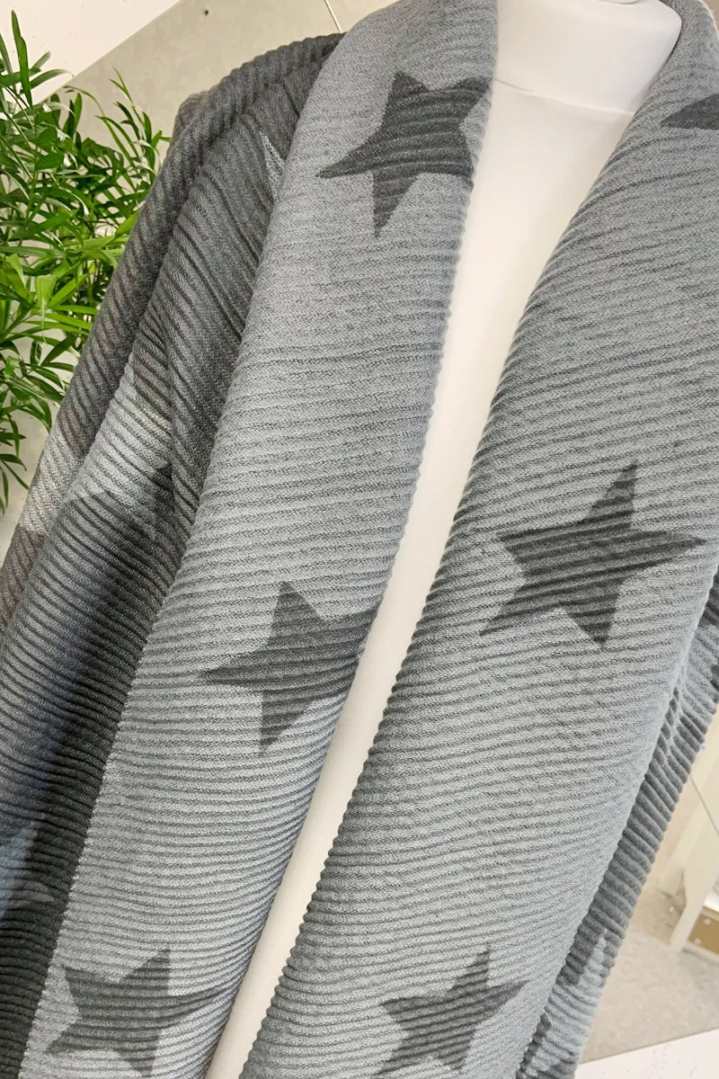 Grey Star Scarf - R113