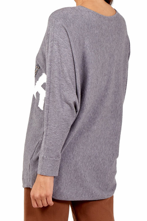 CARRIE Amour Top - Grey