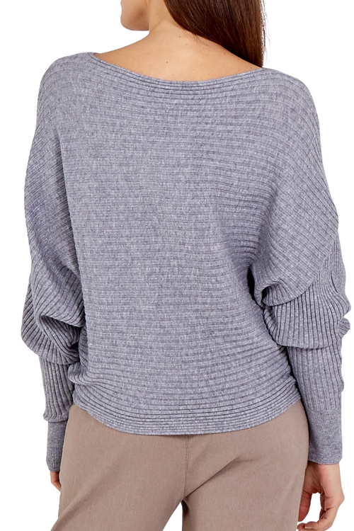 INGRID Ribbed Jumper - Grey