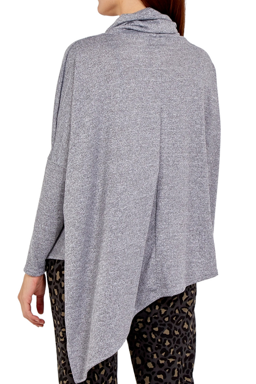 LUCINDA Cowl Neck Top - Grey