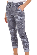 PRISCILLA Camo Magic Trousers - Grey