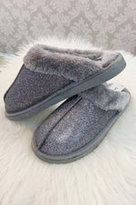 EVIE Sparkle Slipper - Pewter Grey