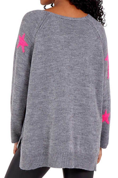 TALIA Star Top - Grey