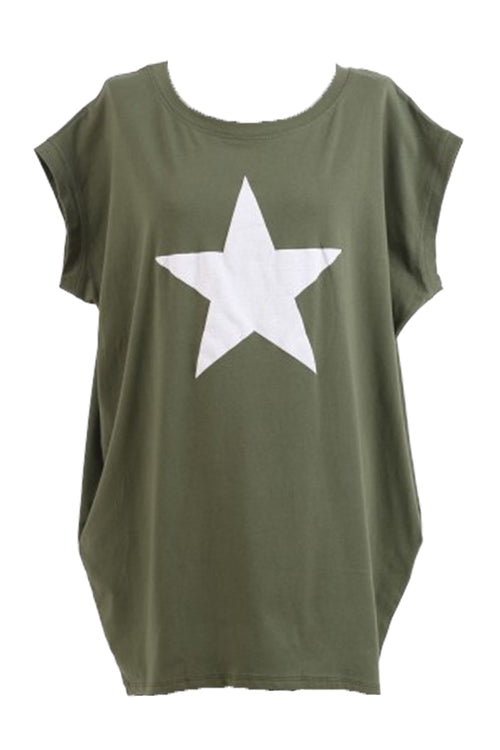 MARTINA Star Top - Khaki