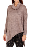 LUCINDA Cowl Neck Top - Mocha