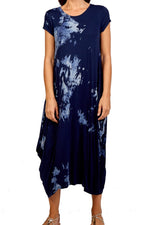 JUSTINE Tie-Dye Dress - Navy