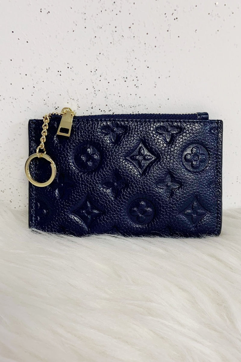 LUNA Leather Coin Purse - Navy