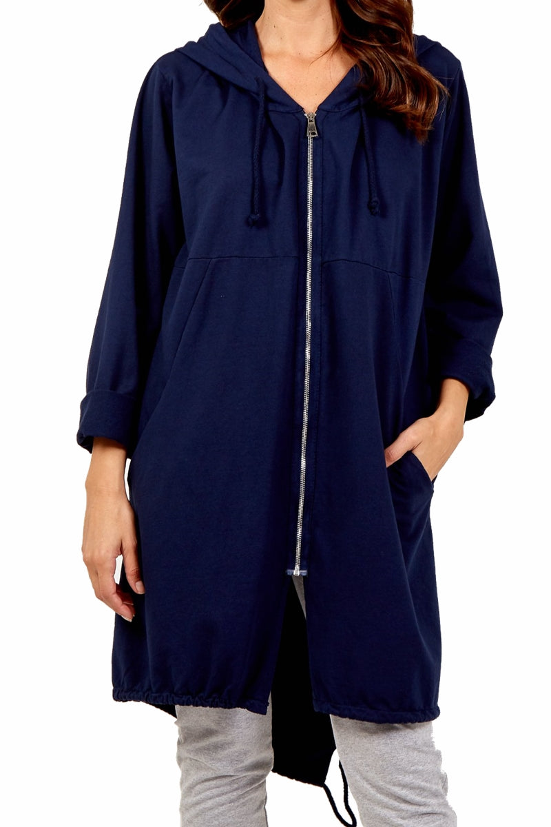 NADINE Plain Jacket - Navy