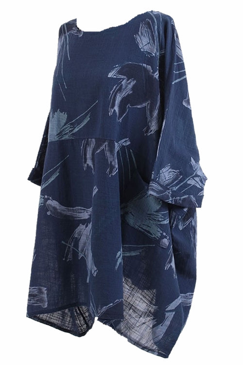 NELLY Abstract Top - Navy