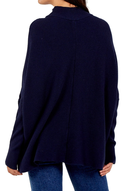 TRICIA Knitted Top -Navy