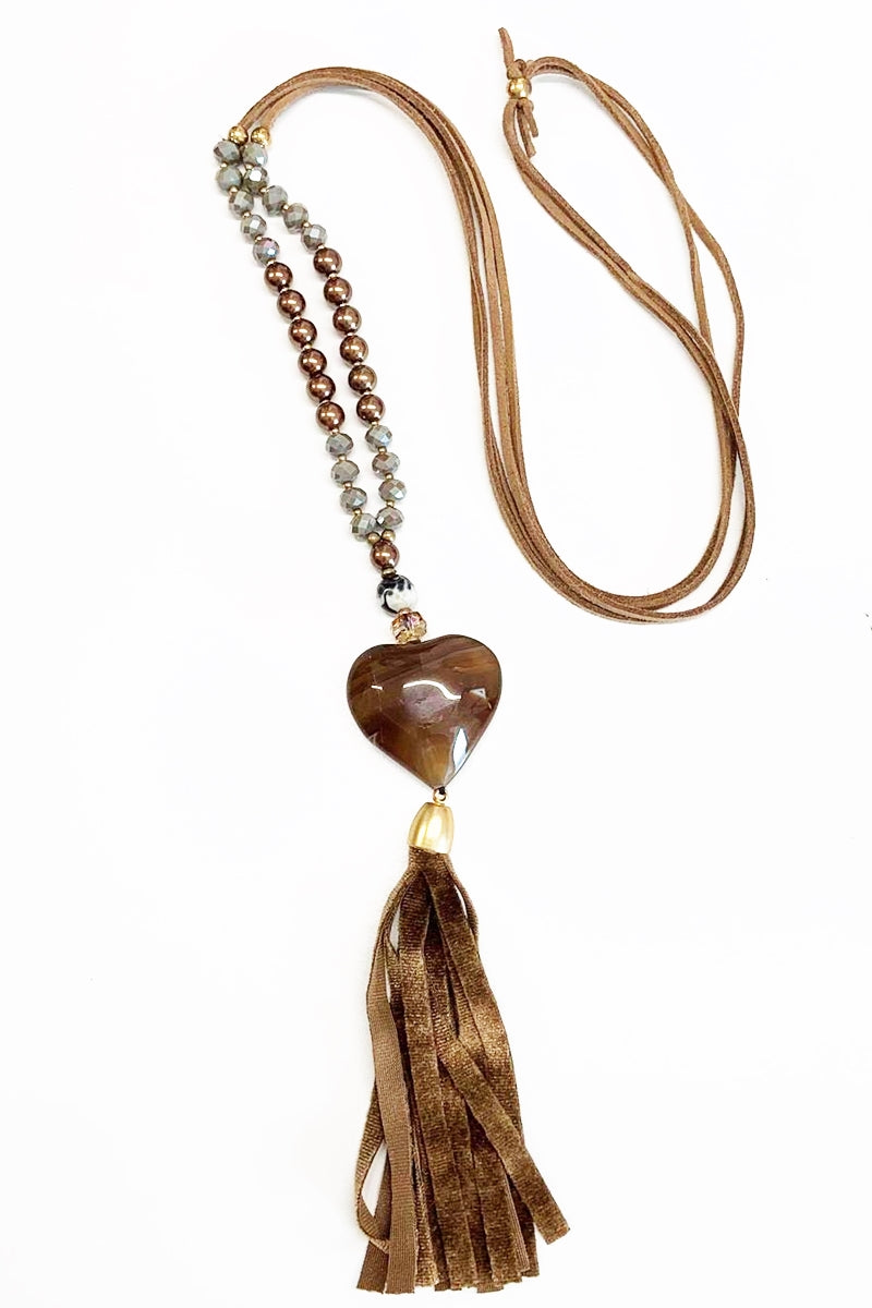 Necklace - A101 - Tan