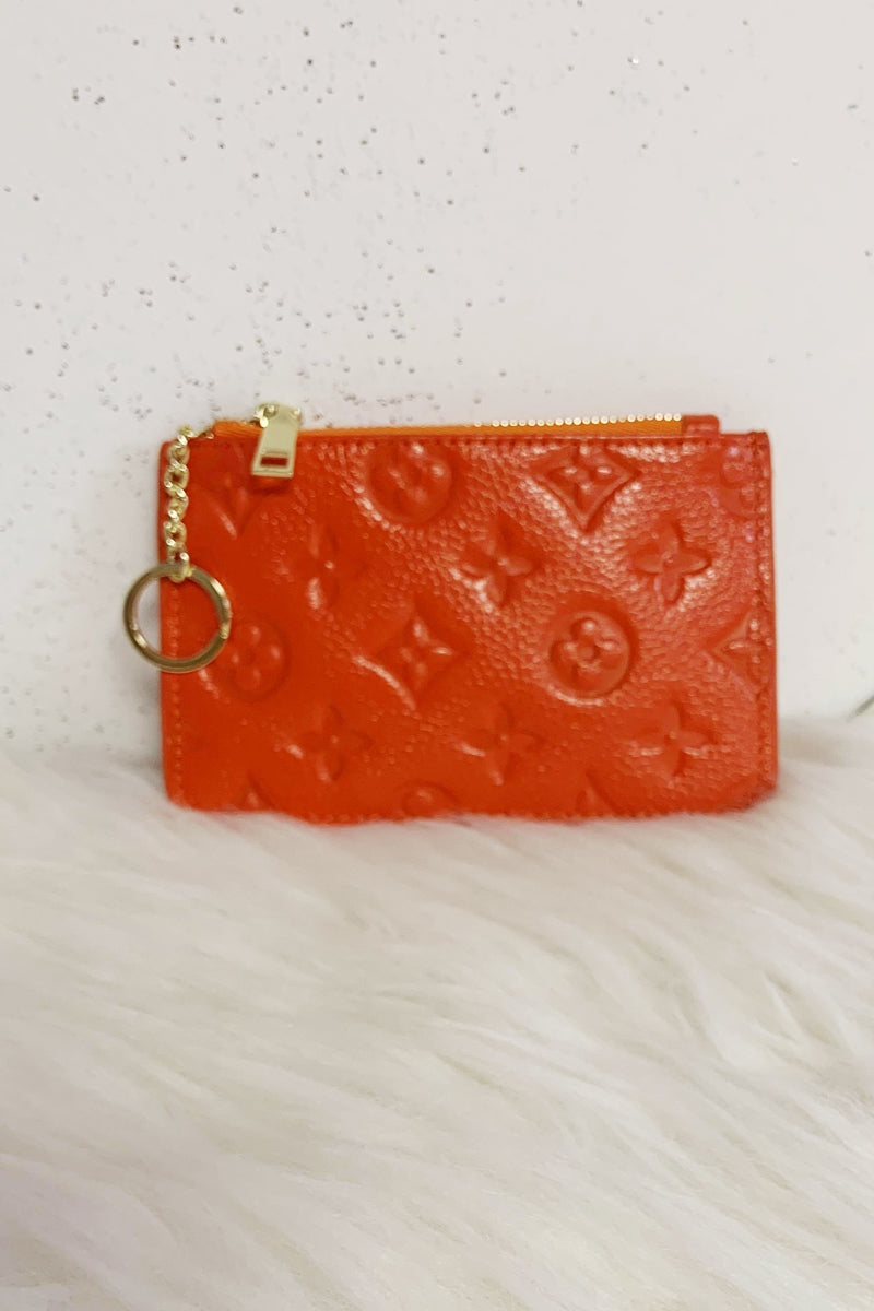 LUNA Leather Coin Purse - Orange