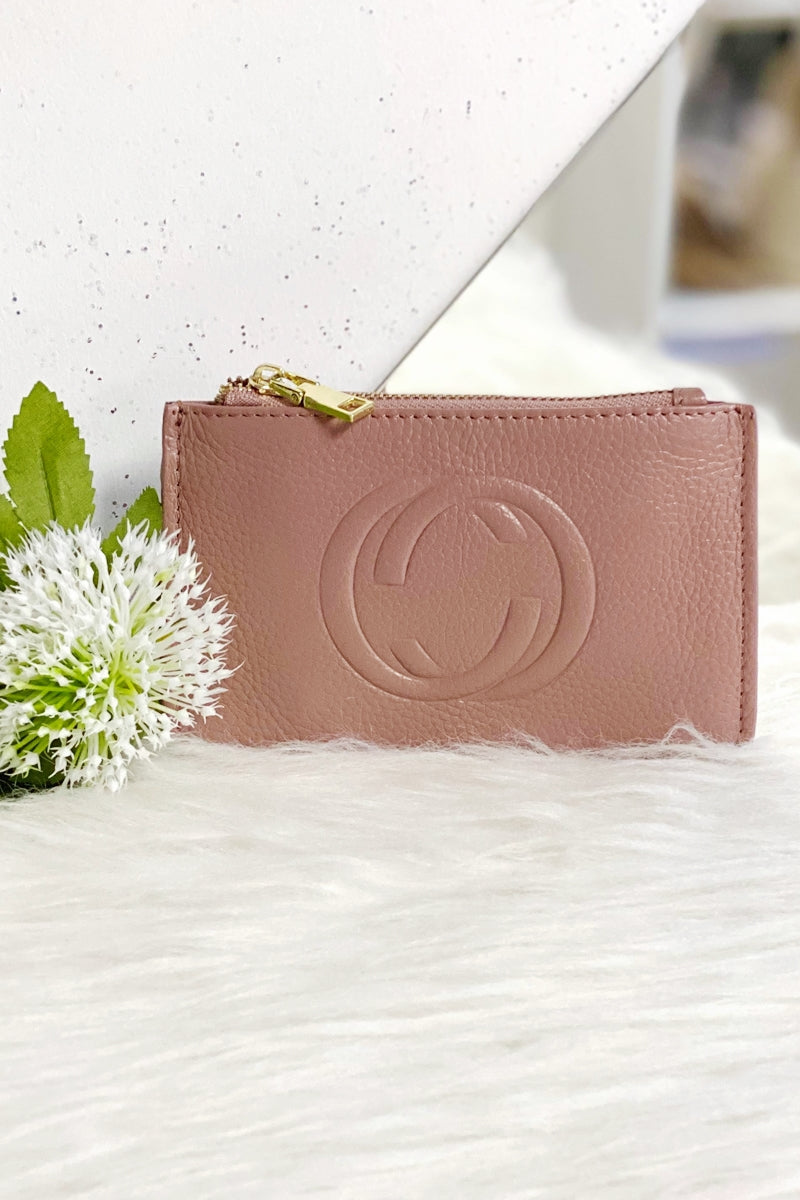 CHLOE Leather Coin Purse - Pink