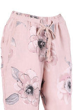 DARBY Linen Trousers - Pink