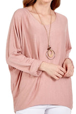KEIRA Plain Top - Pink