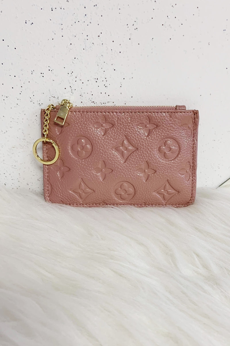 LUNA Leather Coin Purse - Pink