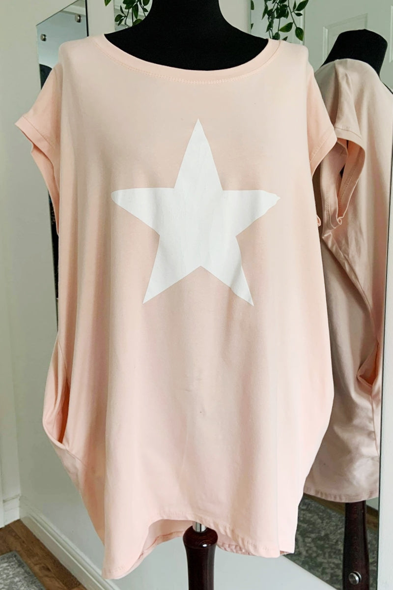 MARTINA Star Top -Pink