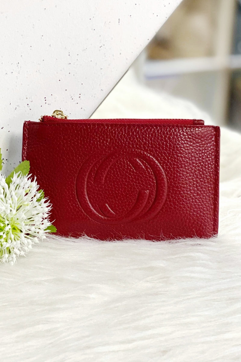 CHLOE Leather Coin Purse - Red