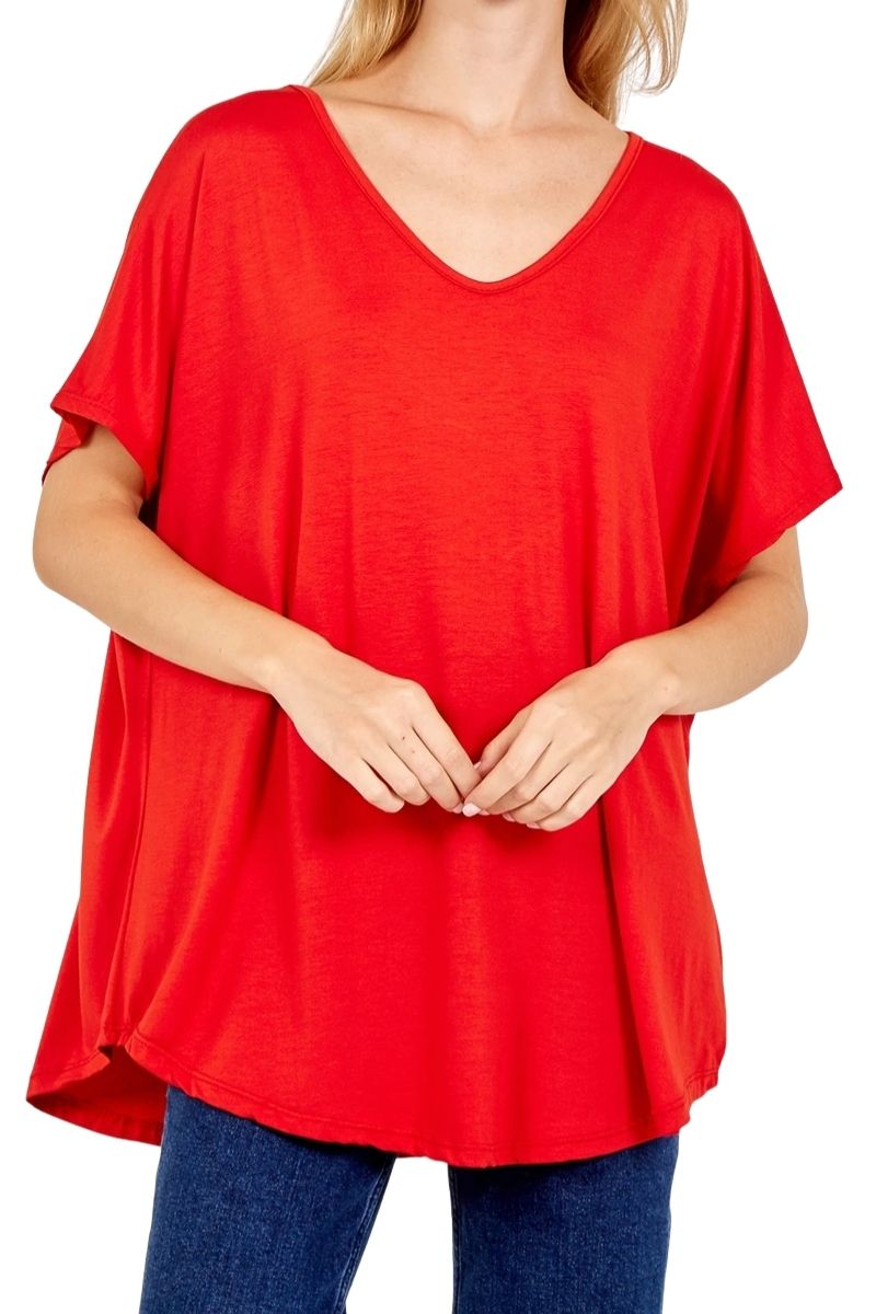 TAYLOR Plain Top - Red