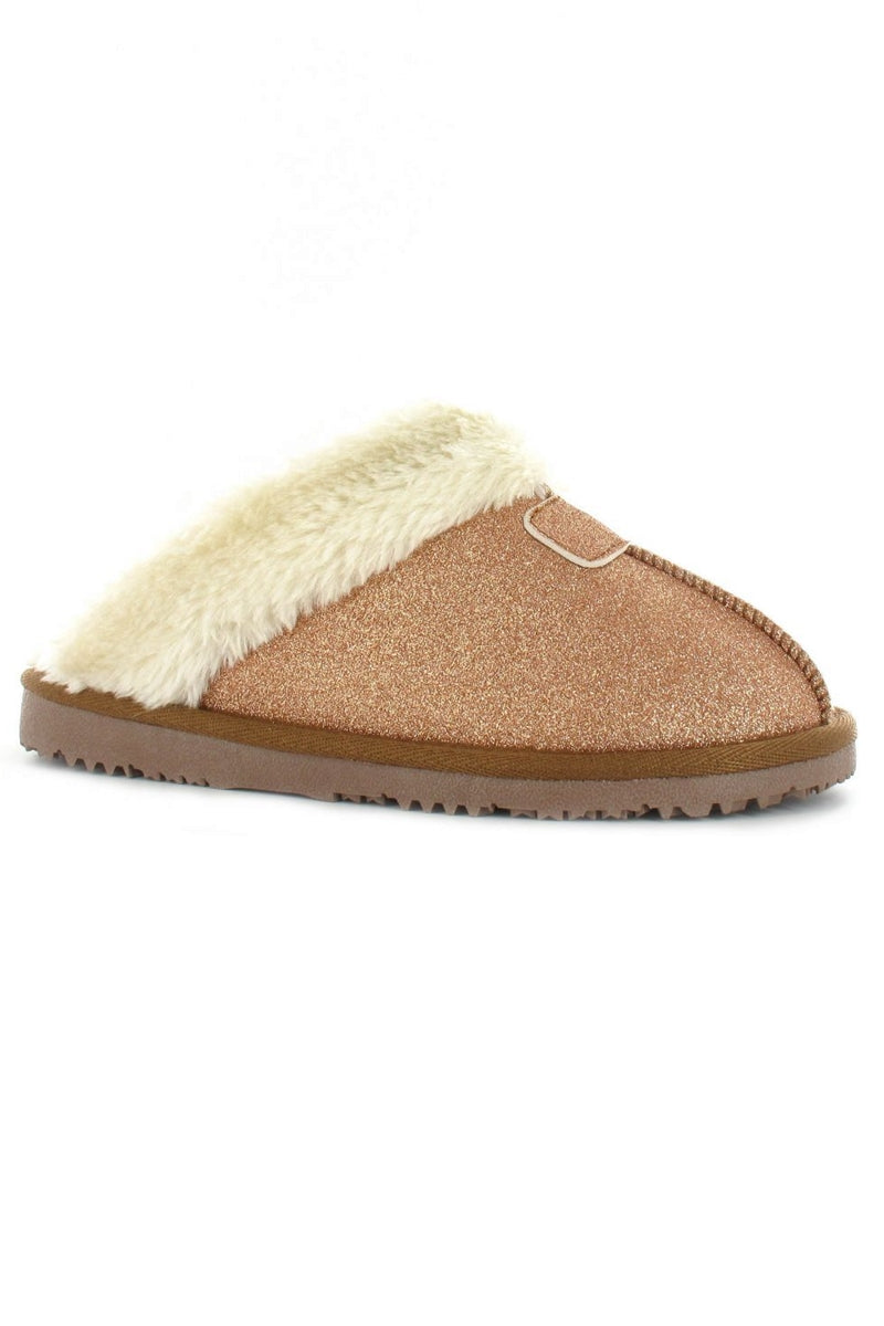 EVIE Sparkle Slipper - Rose Gold