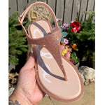 ZOELLA Sparkle Sandal - Rose Gold