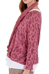JOANNA Leopard Top - Rose