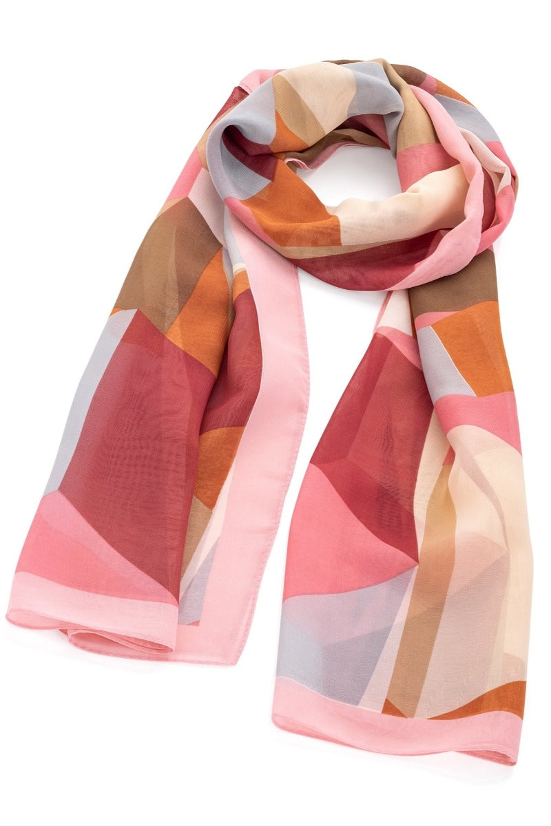 Pink & Brown Scarf