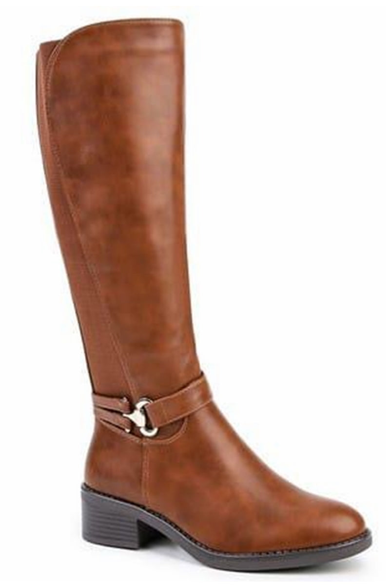 HILARY Calf Boot - Tan