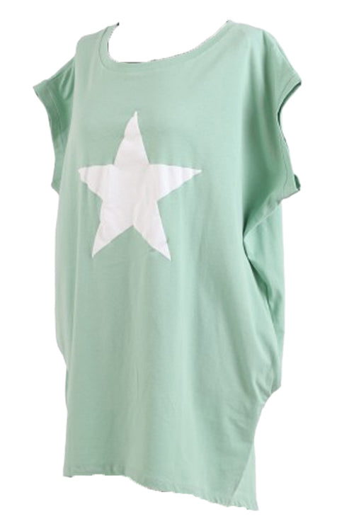MARTINA Star Top - Tiffany Green