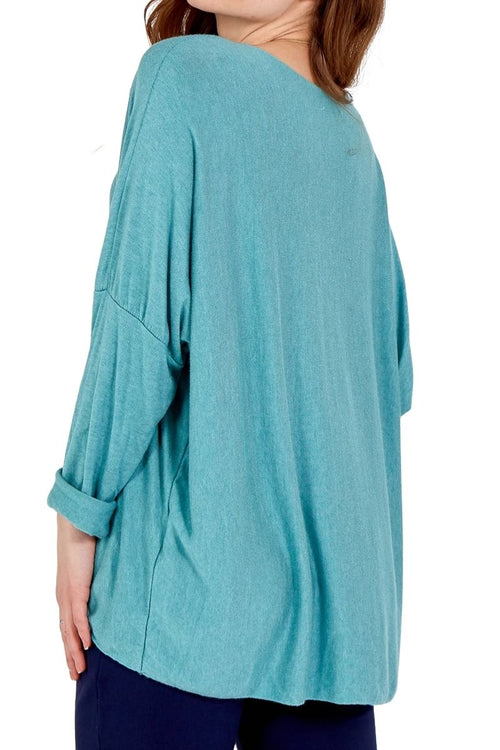 KEIRA Plain Top - Tiffany Green