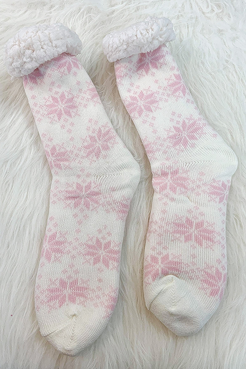 FLORA Lounge Socks - Winter White