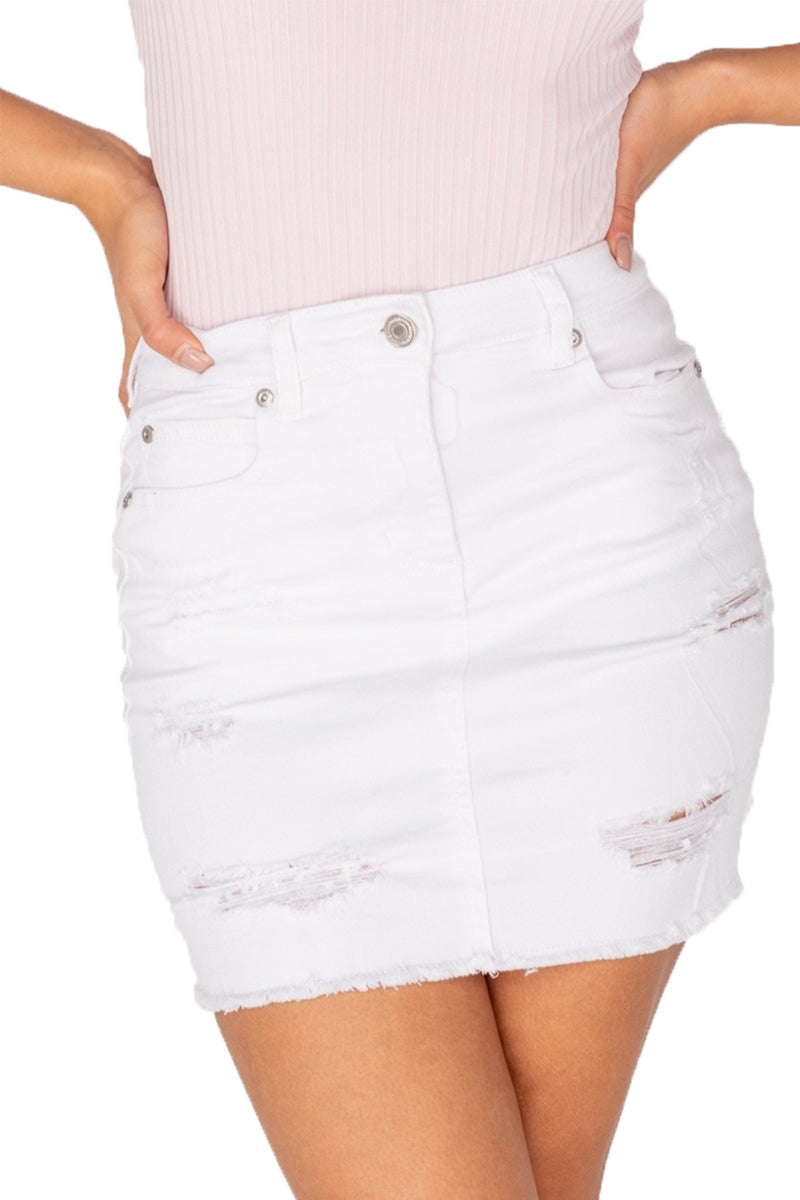 VIKKI Mini Skirt - White