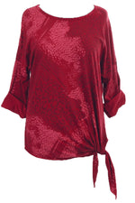 BETTY Side Knot Top - Wine