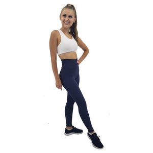 Solid Color Leggings ILoveLeggings.com S Navy Blue