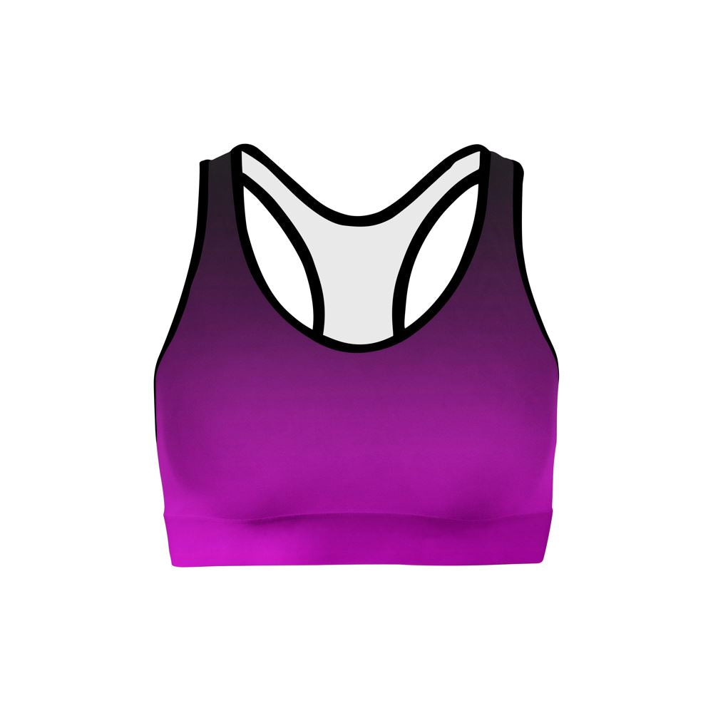 Black Pink Ombre Sports Bra ILoveLeggings.com XS Multicolored