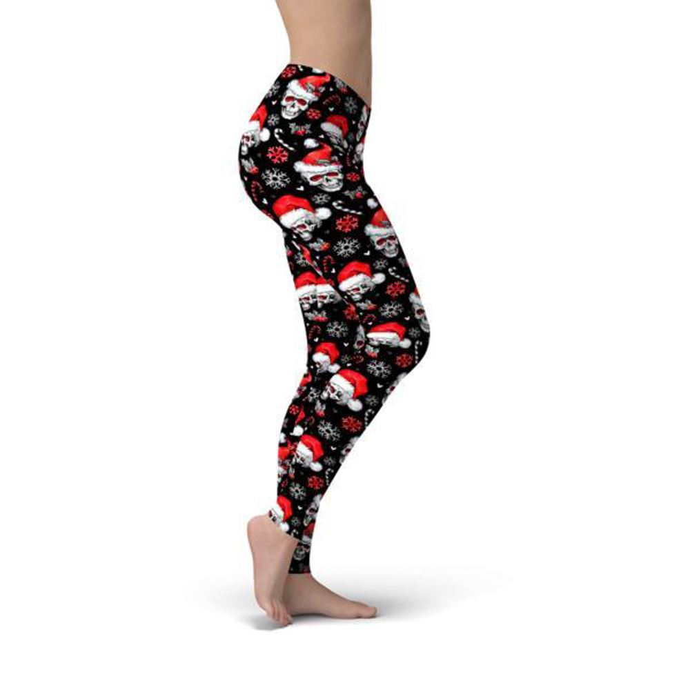 Holiday Skulls Leggings ILoveLeggings.com