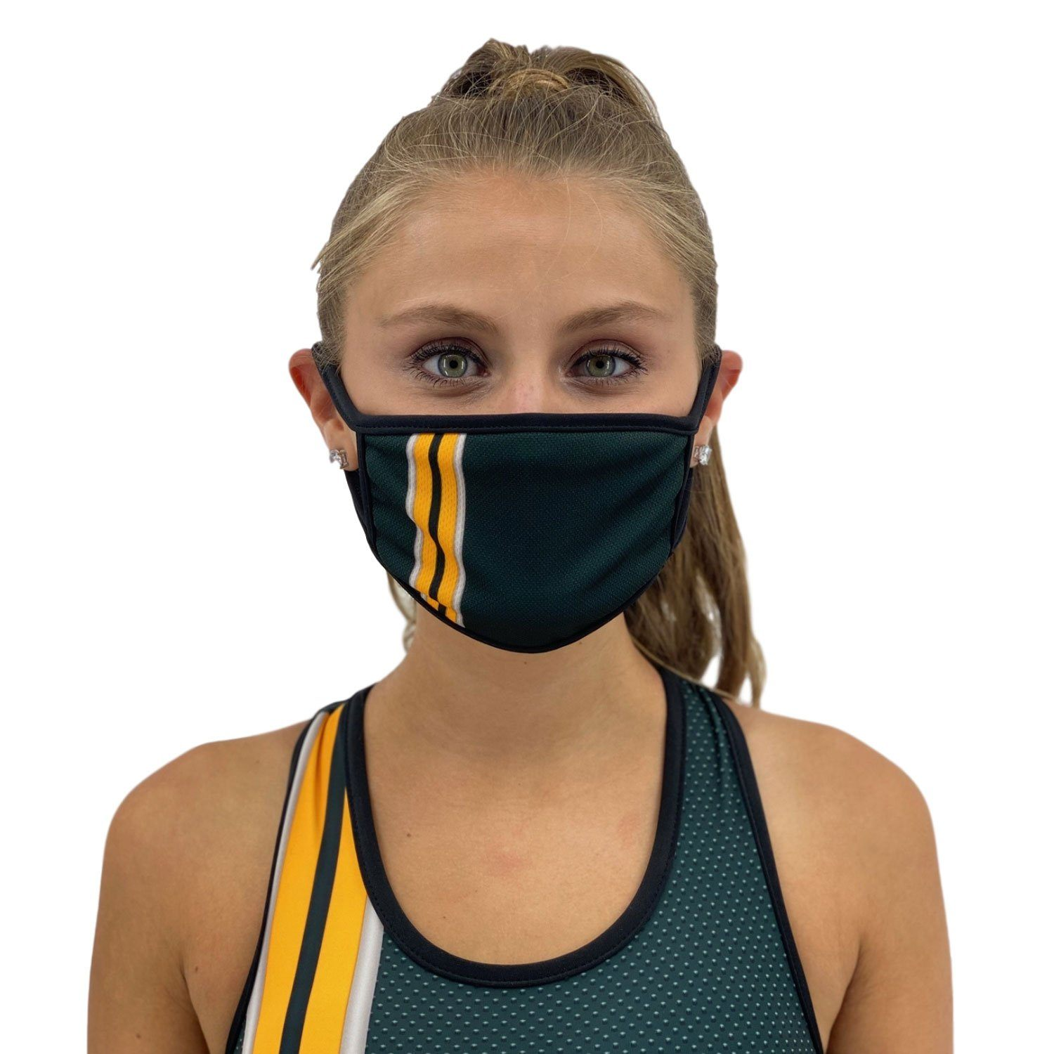 Green Bay Face Cover Face Covers Orange Poppy