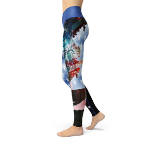 'Merica Leggings Leggings Orange Poppy