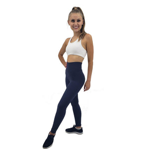 Solid Color Leggings ILoveLeggings.com XS Navy Blue