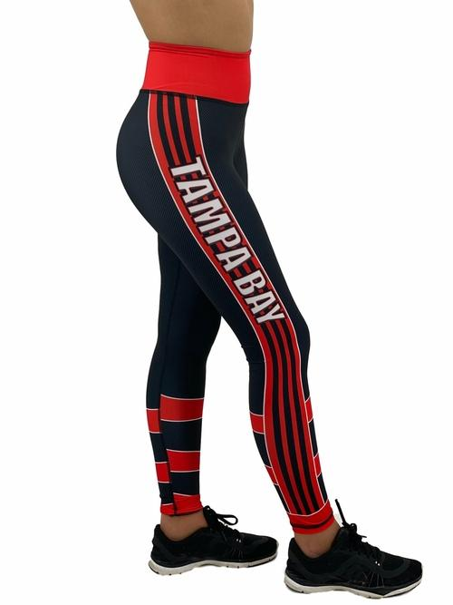 Tampa Bay Team Leggings Leggings Orange Poppy 2XL Black