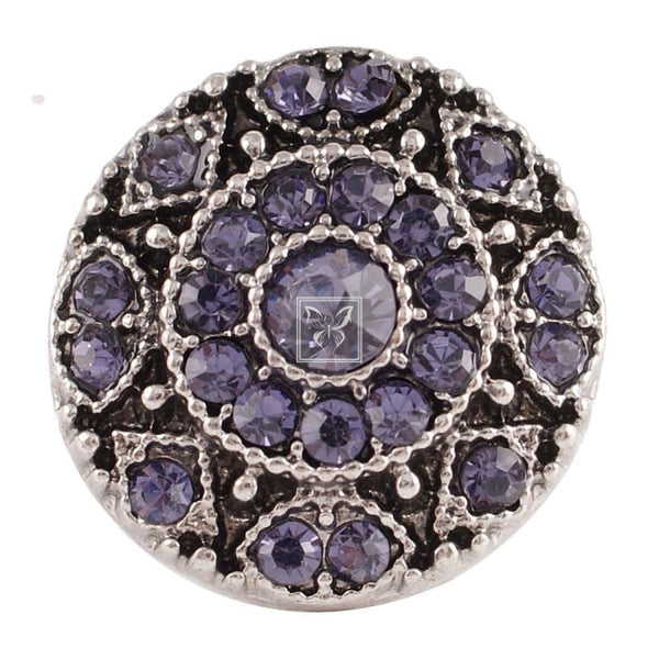 Vintage Purple Crystal Snap